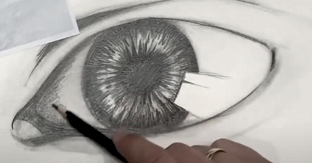 Auge Zeichnen Schritt 4 - Bereiche dunkler gestalten