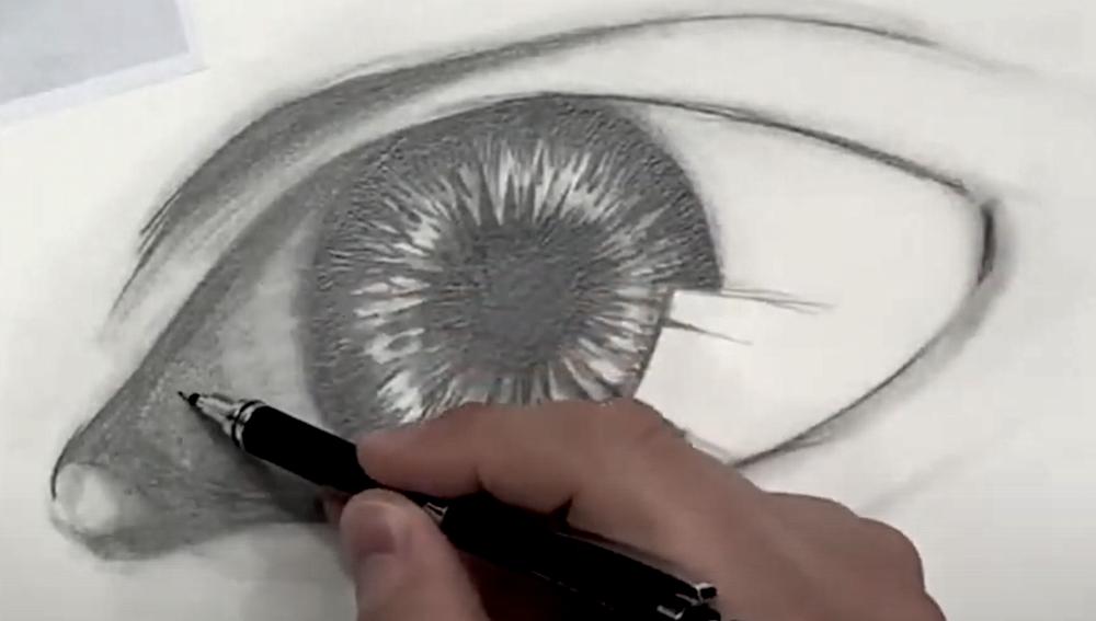 Auge Zeichnen Schritt 4 - Spitzen Bleistift verwenden