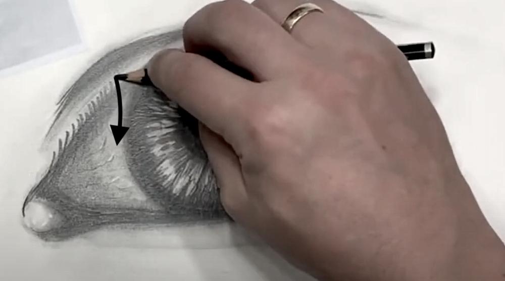 Auge Zeichnen Schritt 5 - Wimpern einzeichnen