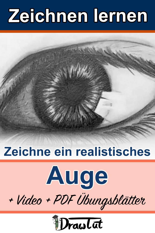 Zeichne ein realistisches Auge Übung und PDF Download