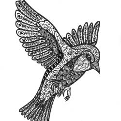 Zendoodle Vogel
