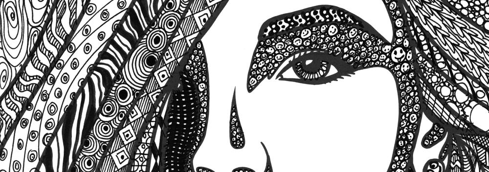 Zendoodle Zeichnung Frau