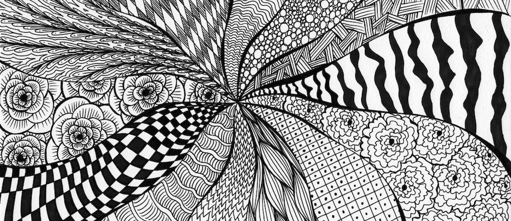 Zendoodle und Zentangle Muster