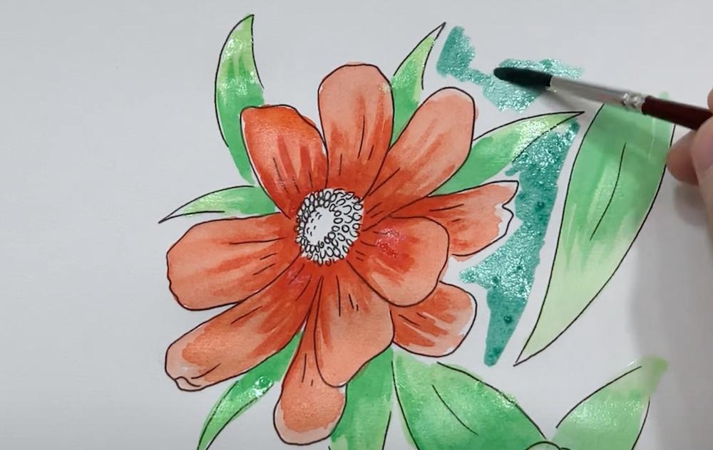 Hintergrund der Blume gestalten