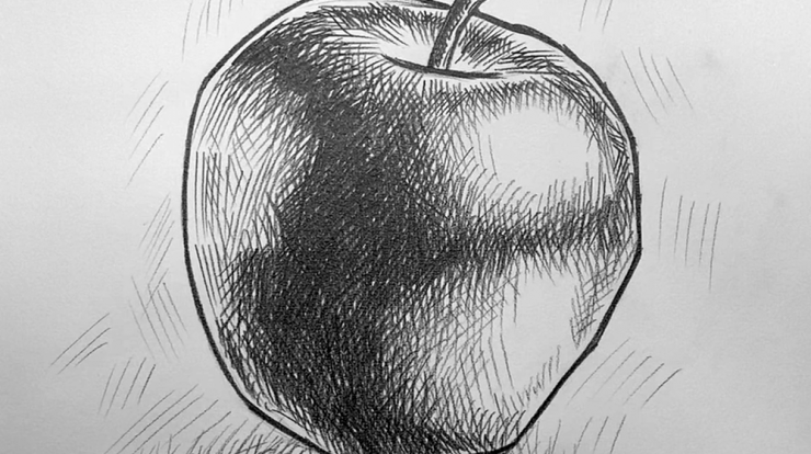 Apple drawing step by step guide