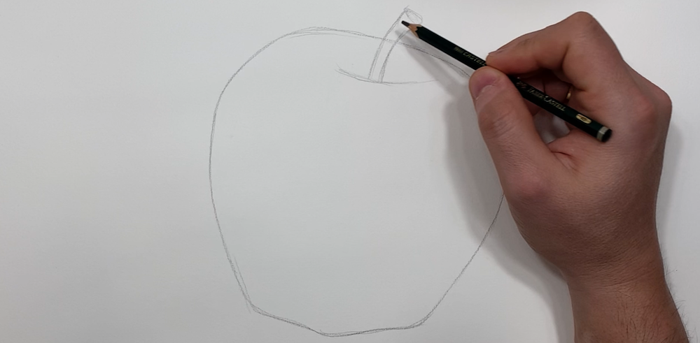 Draw a sketch of the apple