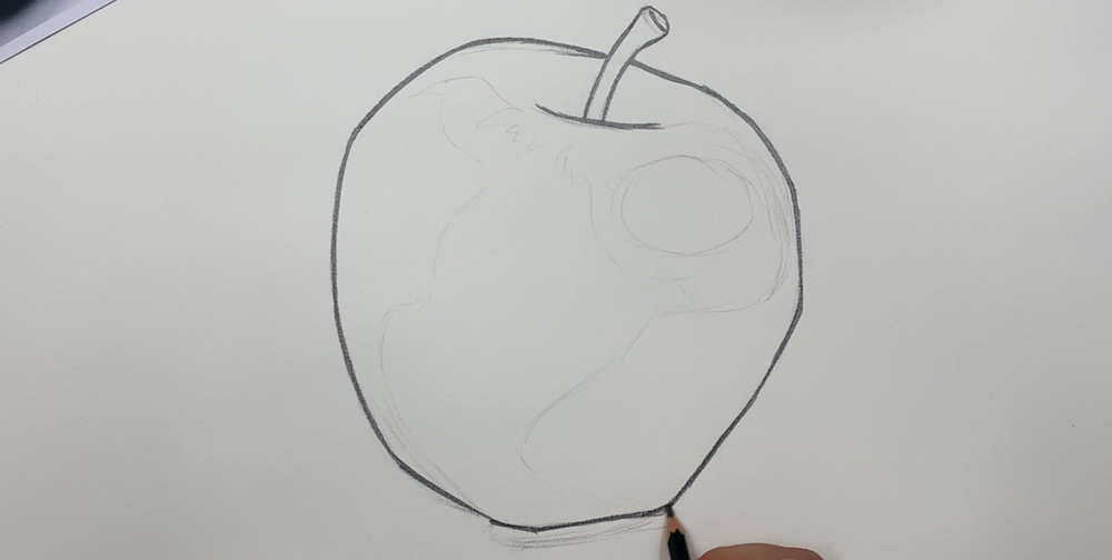 Draw contours of the apple