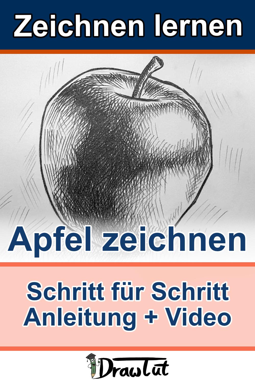 Apfel zeichnen Anleitung Pin