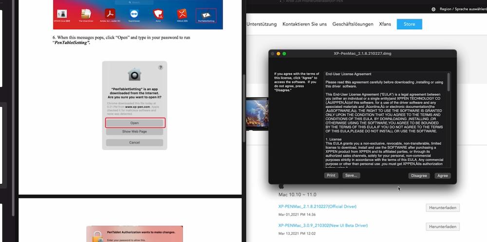 XP-PEN Tablet Treiber Installation