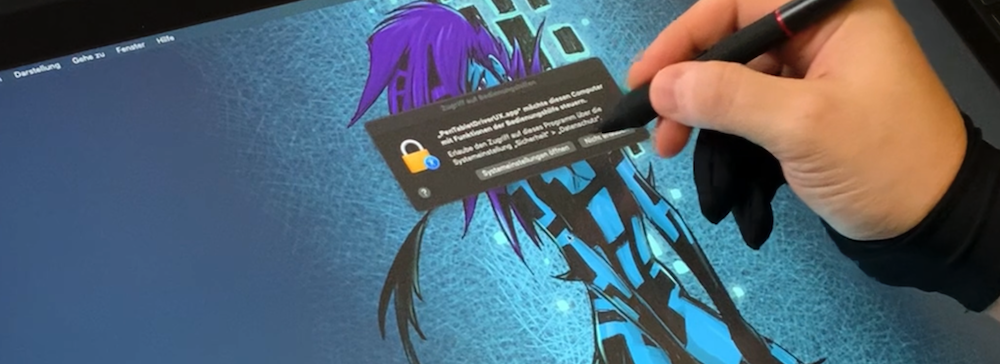 XP-PEN Stift Eingaberechte gewähren