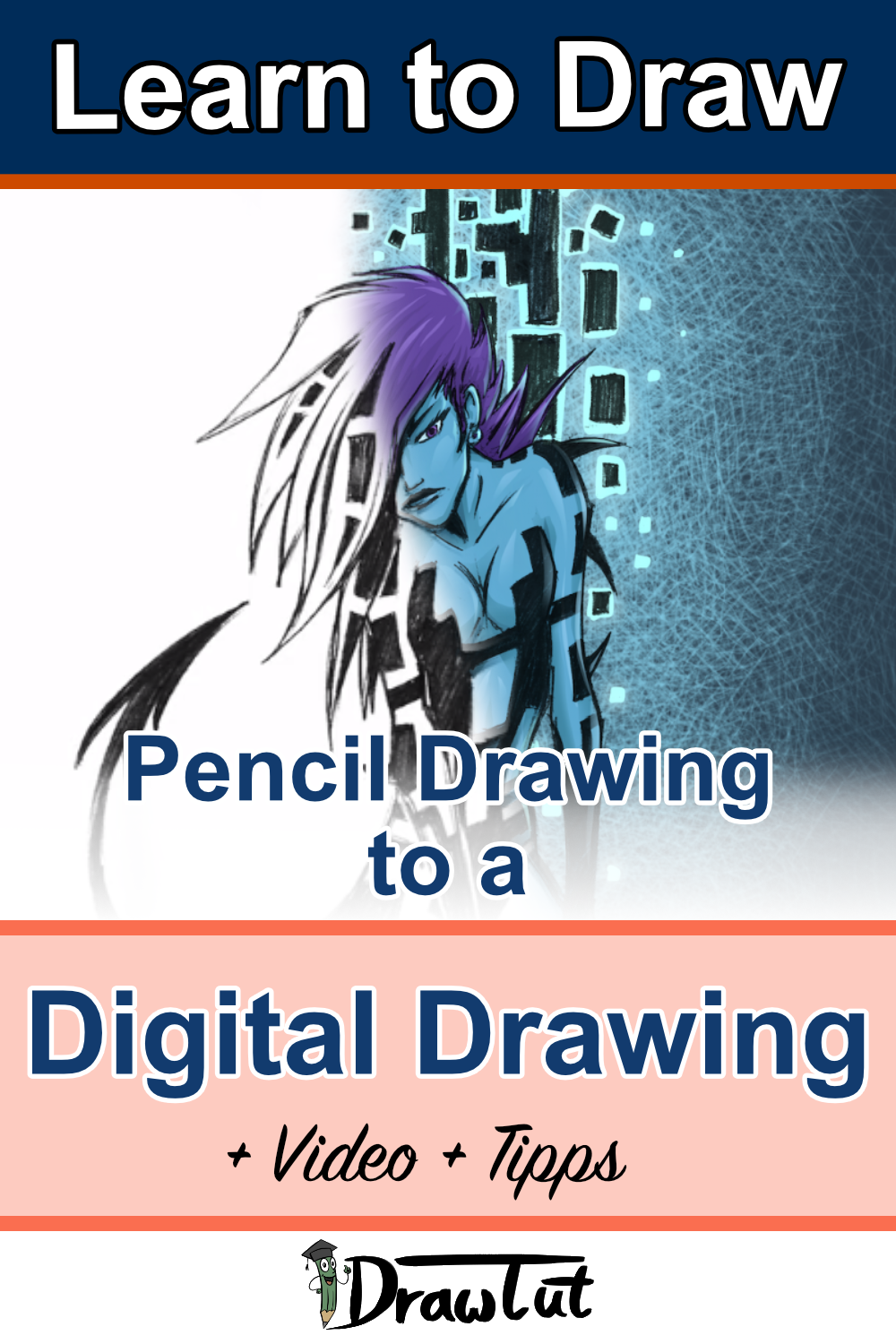 Pencil Drawing to a digital drawing