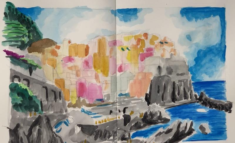 Landschaft Zeichnen Farbe