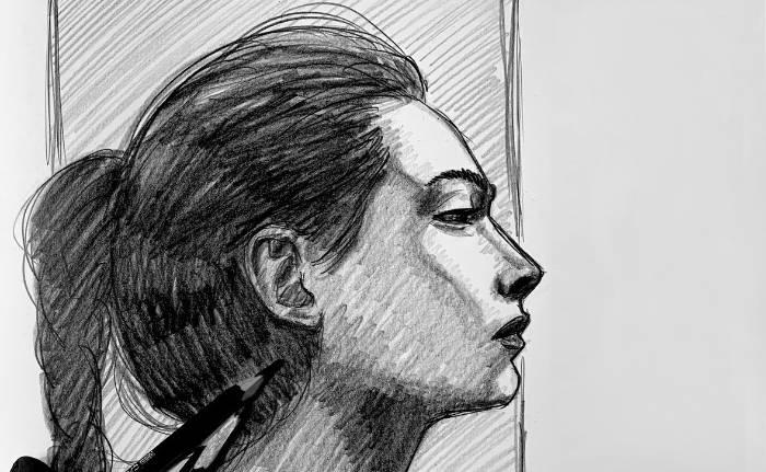 Portrait Skizze Video Übung