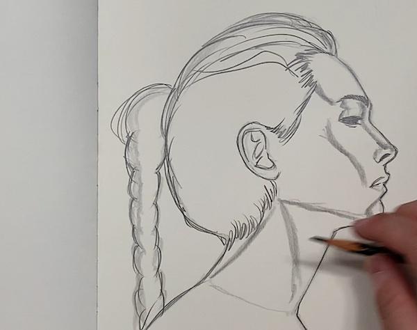 Portrait Skizze - Übergänge