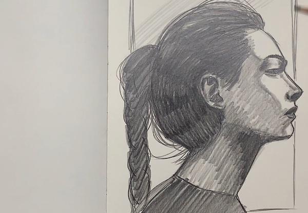Portrait Skizze - Hintergrund