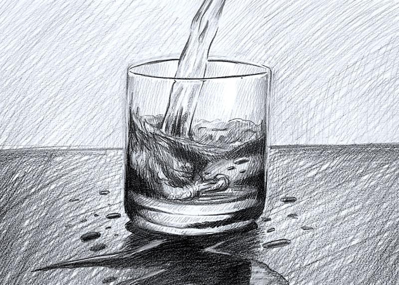 Stillleben Zeichnung Übung