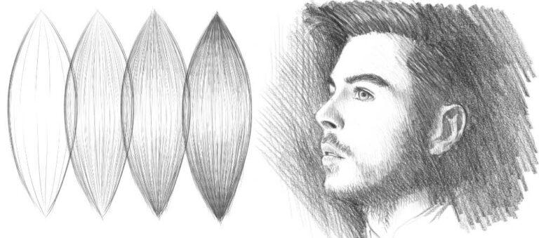 Haare und Gesicht zeichnen