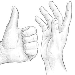 Menschen zeichnen Hände