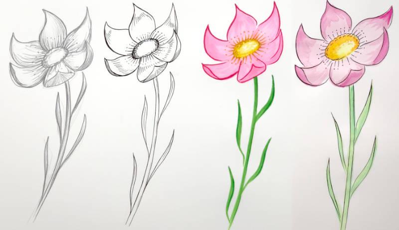 Zeichnen Idee 1 unterschiedliche Zeichenwerkzeuge nutzen
