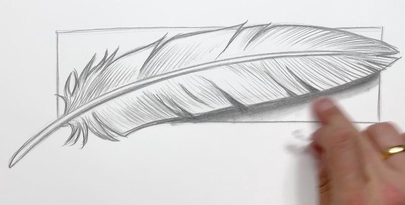 Schatten unter der Feder definieren