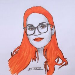 Portrait Zeichnung mit alternativen Stil