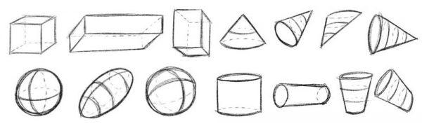 3D Formen und Objekte zeichnen lernen