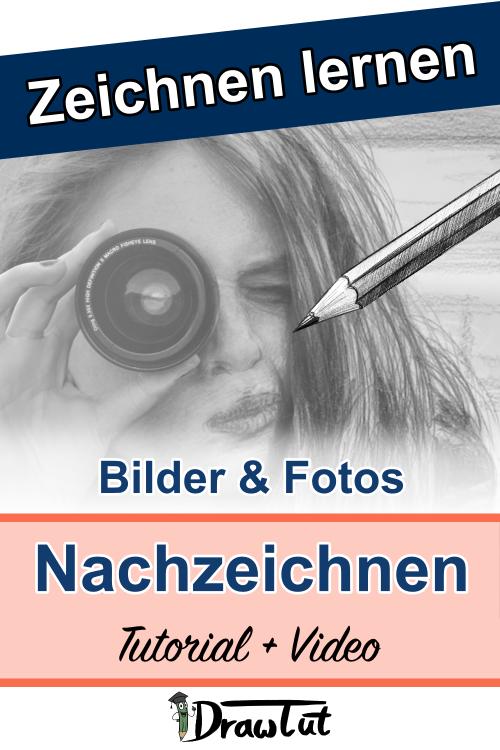 Fotos oder Bilder abpausen, mit einem Raster oder frei nachzeichnen - Video + Tutorial