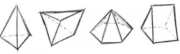Shapes 3D Drawing Pyramid