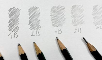HB harte und weiche Bleistifte im Vergleich