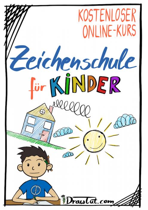 Malschule / Zeichenschule für Kinder - Kinder Lernen Zeichnen - Einfache Übungen zum Nachmachen