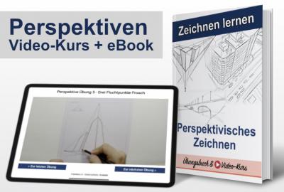 Perspektiven Zeichnen lernen Kurs und eBook